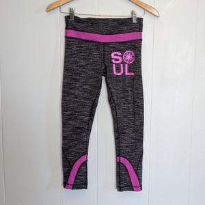 Lululemon Black White Purple Soul Cycle Run Inspir